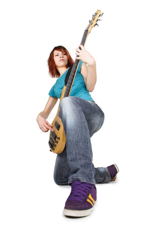 βαθύ γόνατο ένα κιθάρων κορ&i στοκ εικόνα