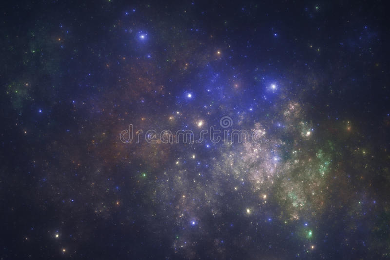 βαθύ διάστημα starfield ελεύθερη απεικόνιση δικαιώματος