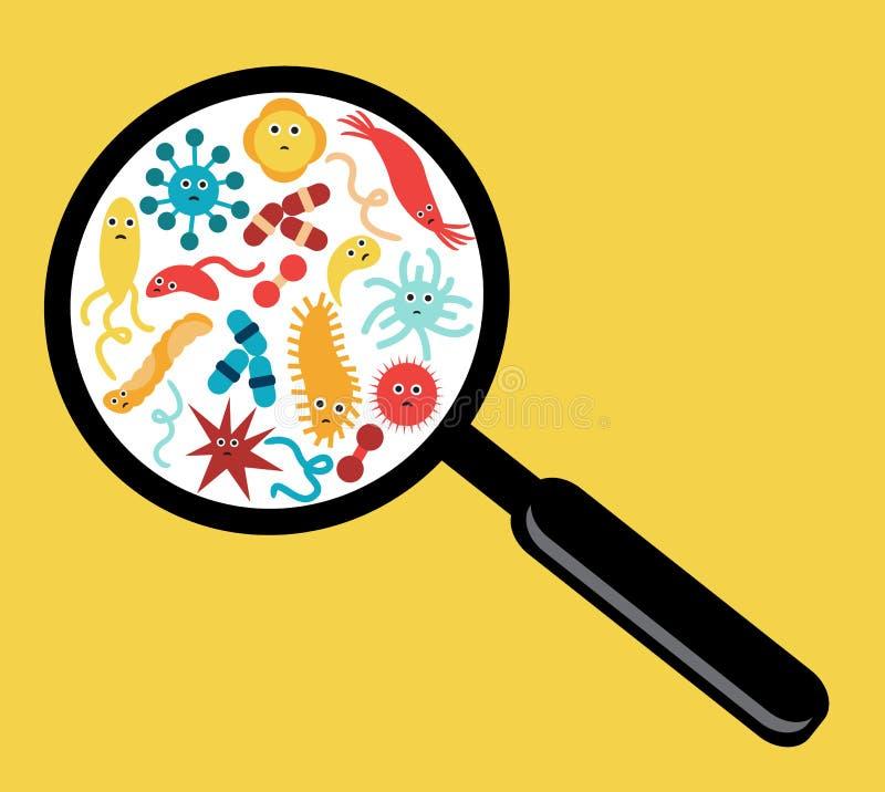 Βακτηρίδια και ιοί διανυσματική απεικόνιση