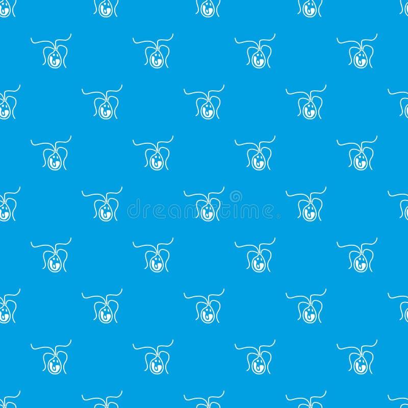 Βακτηριακό άνευ ραφής μπλε σχεδίων κυττάρων απεικόνιση αποθεμάτων