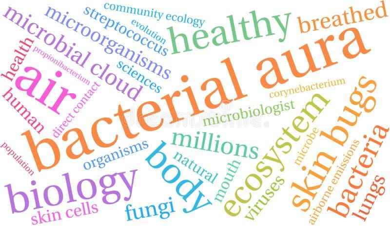 Βακτηριακό σύννεφο του Word αύρας απεικόνιση αποθεμάτων