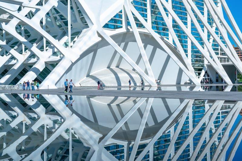 Βαλένθια, η πόλη των τεχνών και των επιστημών στοκ φωτογραφίες με δικαίωμα ελεύθερης χρήσης