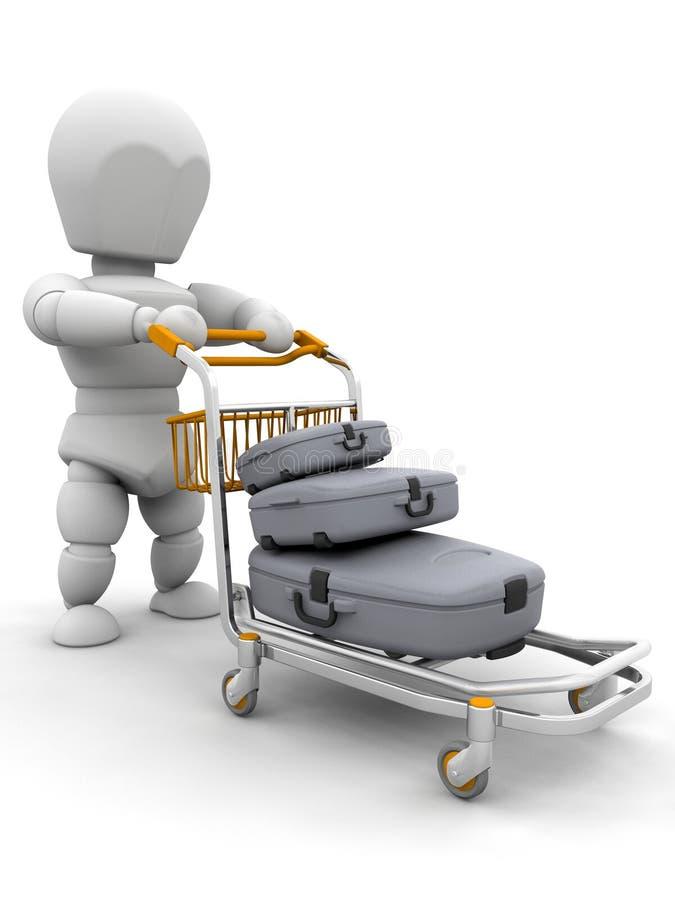 βαλίτσες προσώπων απεικόνιση αποθεμάτων