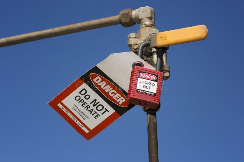 Βαλβίδα απομόνωσης κινδύνου στοκ φωτογραφίες με δικαίωμα ελεύθερης χρήσης