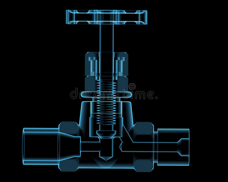 Βαλβίδα που απομονώνεται στο Μαύρο απεικόνιση αποθεμάτων