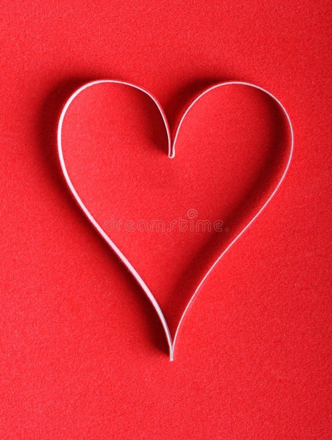 βαλεντίνος εγγράφου s καρδιών στοκ εικόνες με δικαίωμα ελεύθερης χρήσης