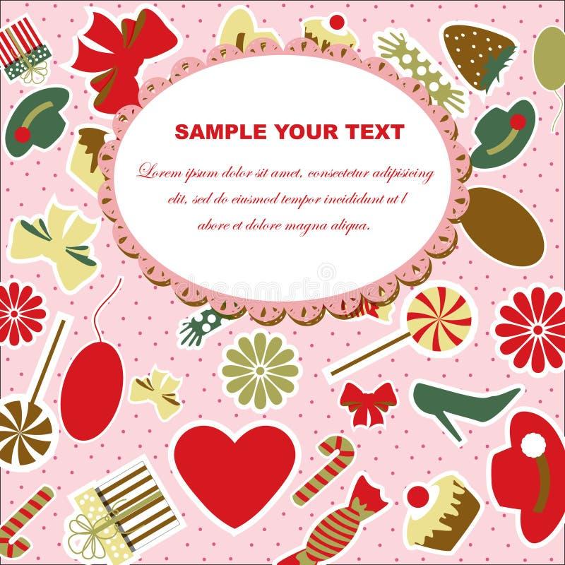 Download βαλεντίνος ημέρας s καρτών διανυσματική απεικόνιση. εικονογραφία από διακοπές - 22782025
