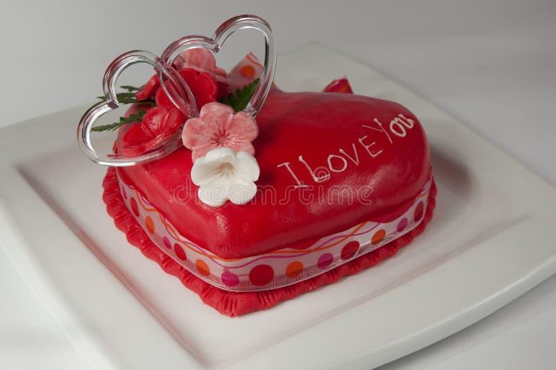 βαλεντίνος κέικ στοκ φωτογραφίες