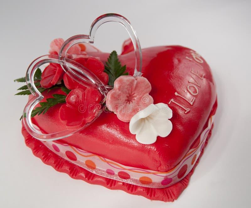 βαλεντίνος κέικ στοκ εικόνες με δικαίωμα ελεύθερης χρήσης