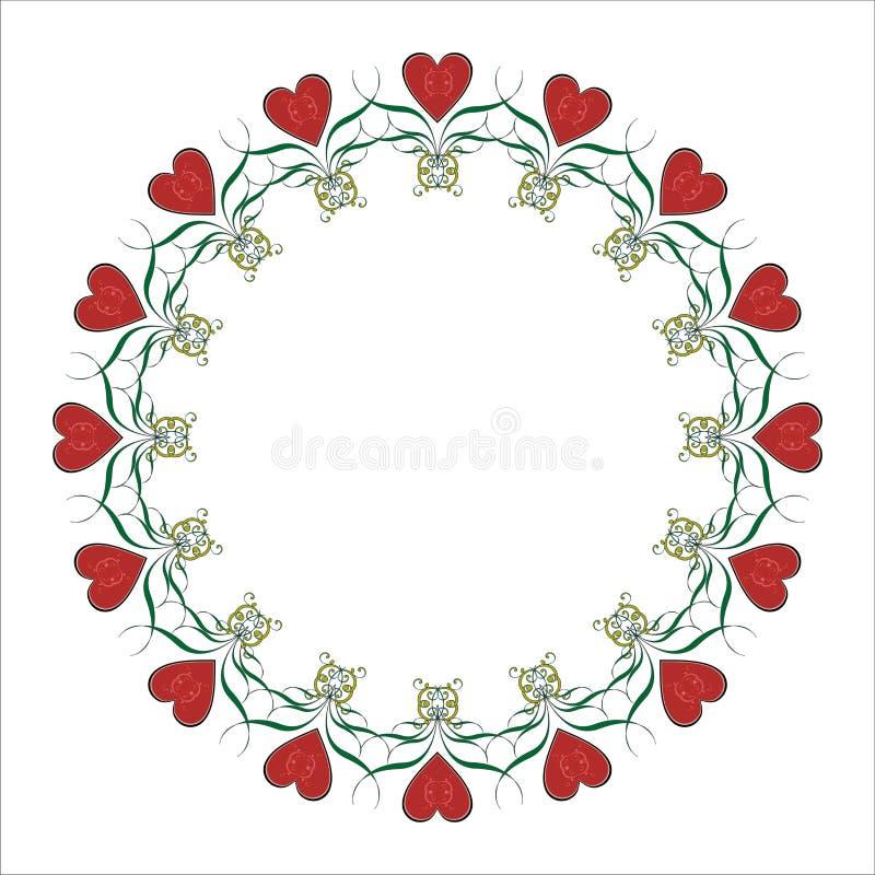βαλεντίνος καρδιών πλαισίων διανυσματική απεικόνιση