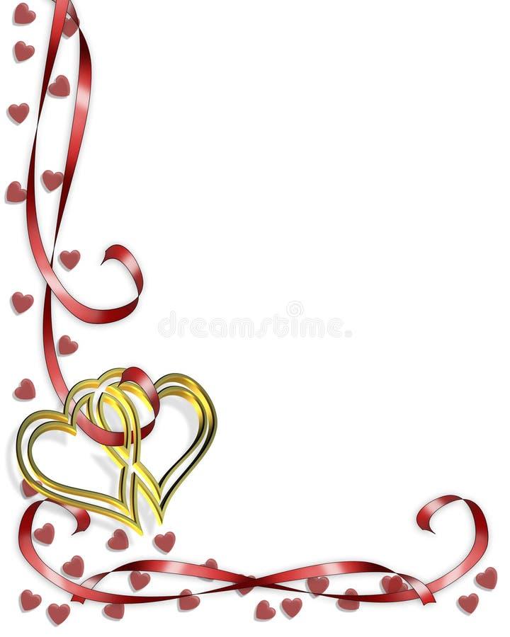 βαλεντίνος καρδιών συνόρ&ome απεικόνιση αποθεμάτων