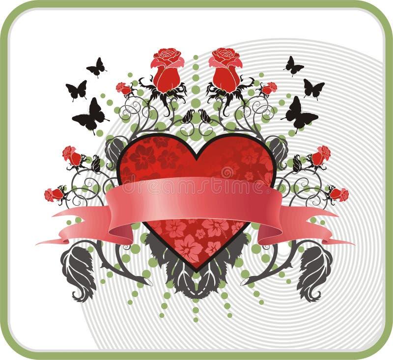 βαλεντίνος καρτών διανυσματική απεικόνιση