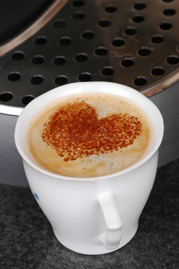 βαλεντίνος καφέ στοκ εικόνα