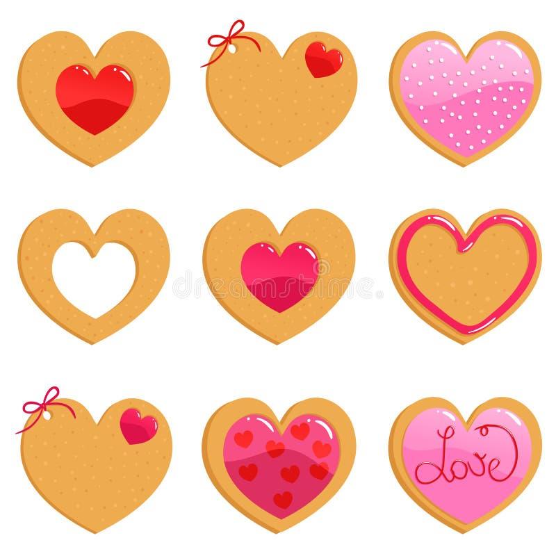 βαλεντίνος μπισκότων διανυσματική απεικόνιση