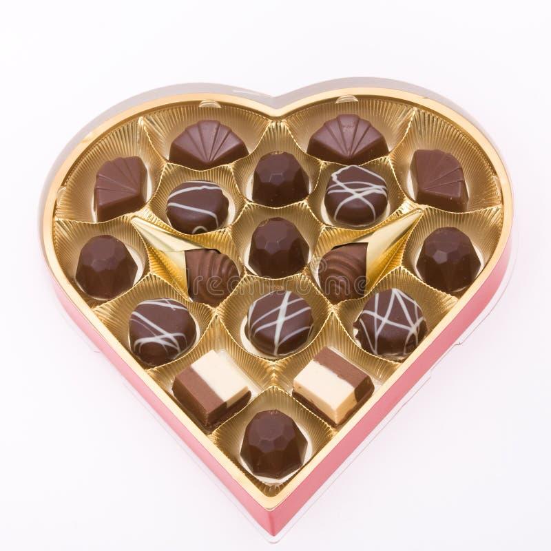 βαλεντίνος σοκολατών στοκ εικόνα