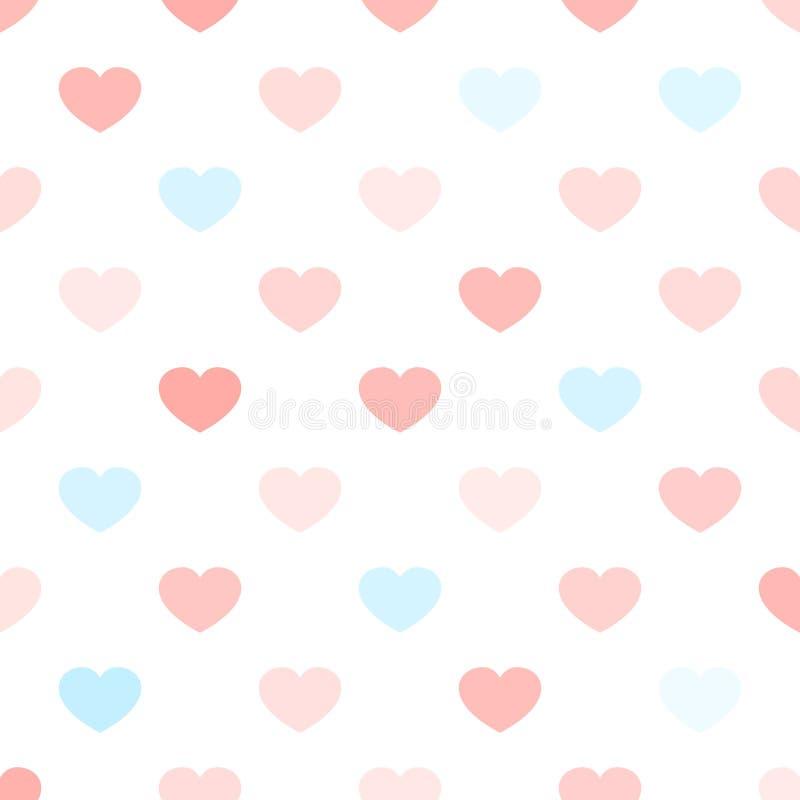 Βαλεντίνων ημέρας καρδιών άνευ ραφής σχεδίων υποβάθρου αγάπης τυπογραφίας απεικόνιση καρτών γαμήλιων δώρων διακοπών ρομαντική απεικόνιση αποθεμάτων