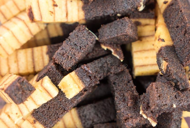 Βαλμένο σε στρώσεις κέικ Sarawak στοκ εικόνες