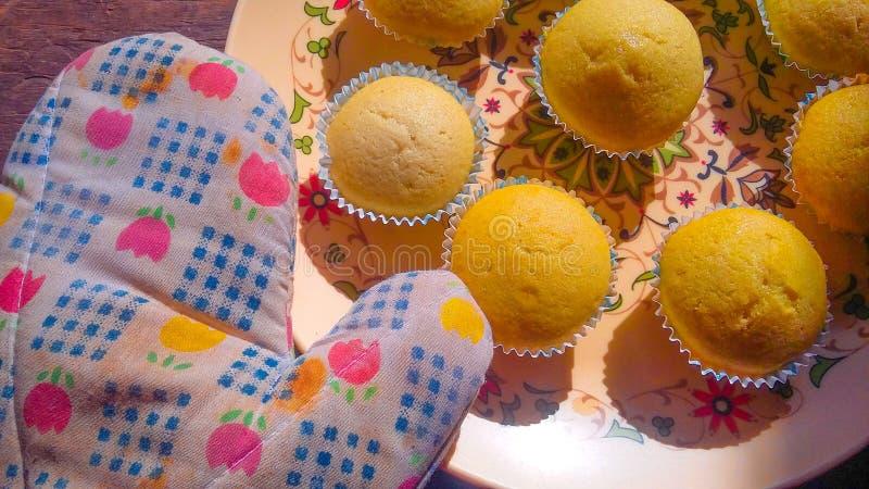 Βανίλια cupcakes στοκ φωτογραφία με δικαίωμα ελεύθερης χρήσης