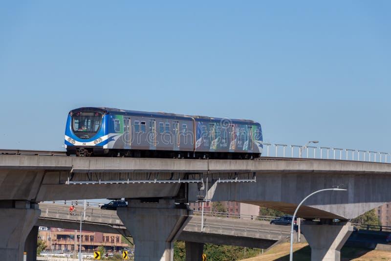 Βανκούβερ, Καναδάς - Circa 2018: Γραμμή Skytrain του Καναδά στοκ φωτογραφία με δικαίωμα ελεύθερης χρήσης