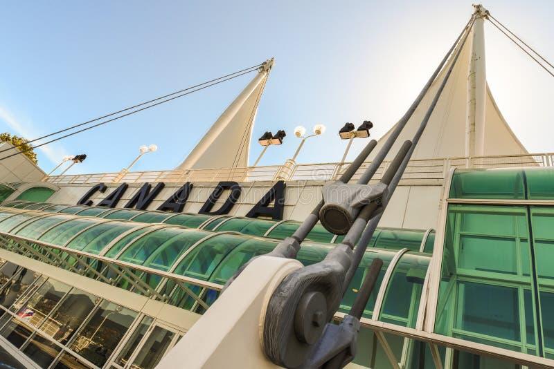 Βανκούβερ, πανιά στη θέση του Καναδά στοκ φωτογραφία