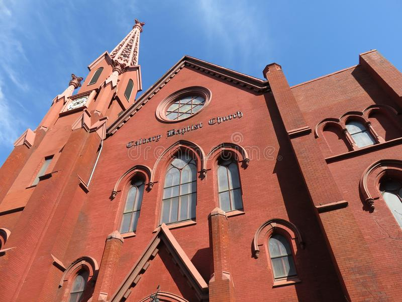 Βαπτιστική εκκλησία Calvary στο Washington DC στοκ εικόνες με δικαίωμα ελεύθερης χρήσης