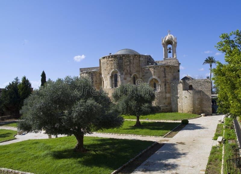 βαπτιστική εκκλησία John Λίβανος ST byblos στοκ φωτογραφία