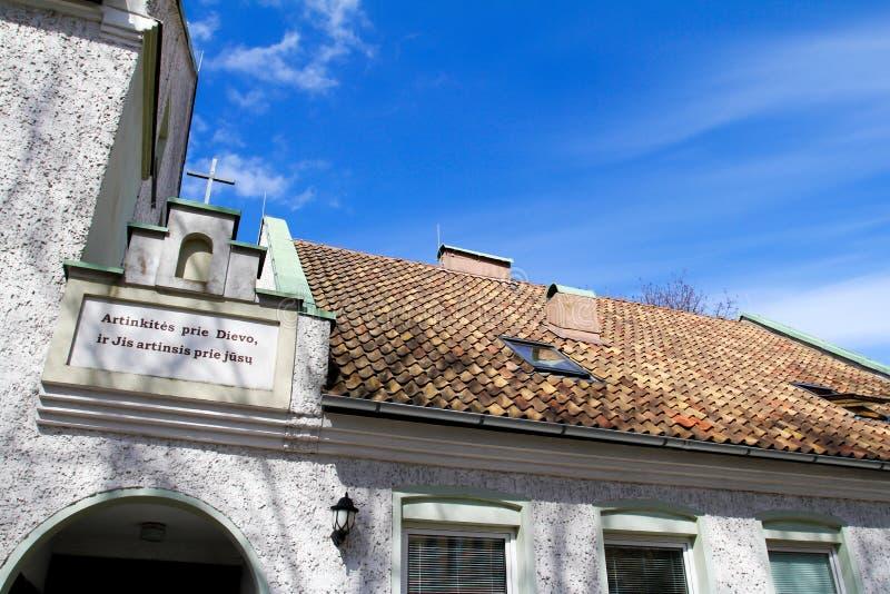 βαπτιστικό εβαγγελικό klaipeda εκκλησιών στοκ φωτογραφία με δικαίωμα ελεύθερης χρήσης