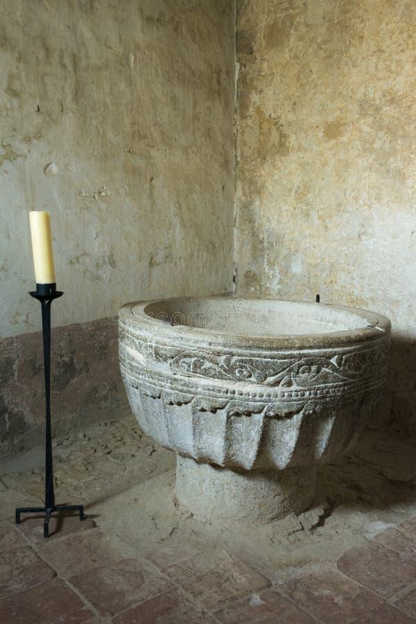 Βαπτιστικό κερί μορίων πηγών Romanesce σε Calatanazor, Soria στοκ φωτογραφία με δικαίωμα ελεύθερης χρήσης