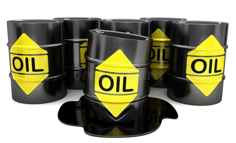 Βαρέλια με το πετρέλαιο διανυσματική απεικόνιση