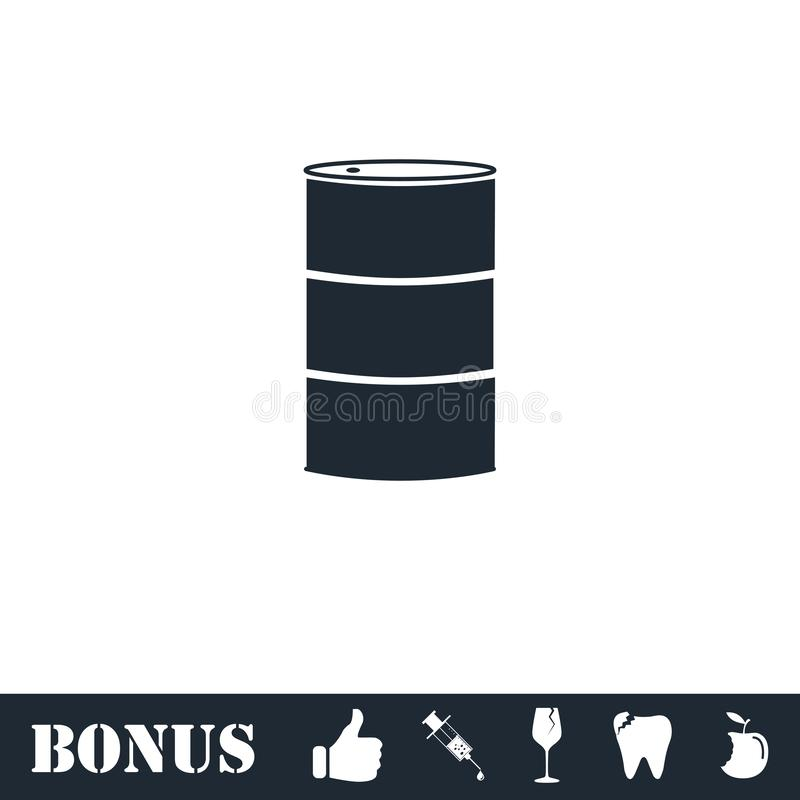 Βαρέλια πετρελαίου εικονιδίων επίπεδων διανυσματική απεικόνιση