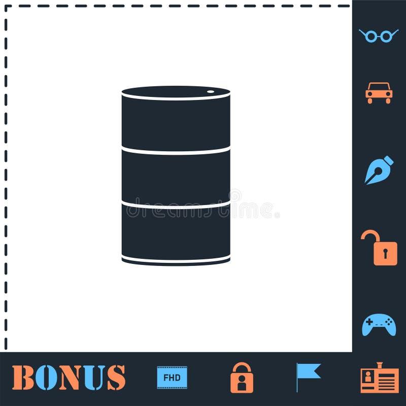 Βαρέλια πετρελαίου εικονιδίων επίπεδων ελεύθερη απεικόνιση δικαιώματος
