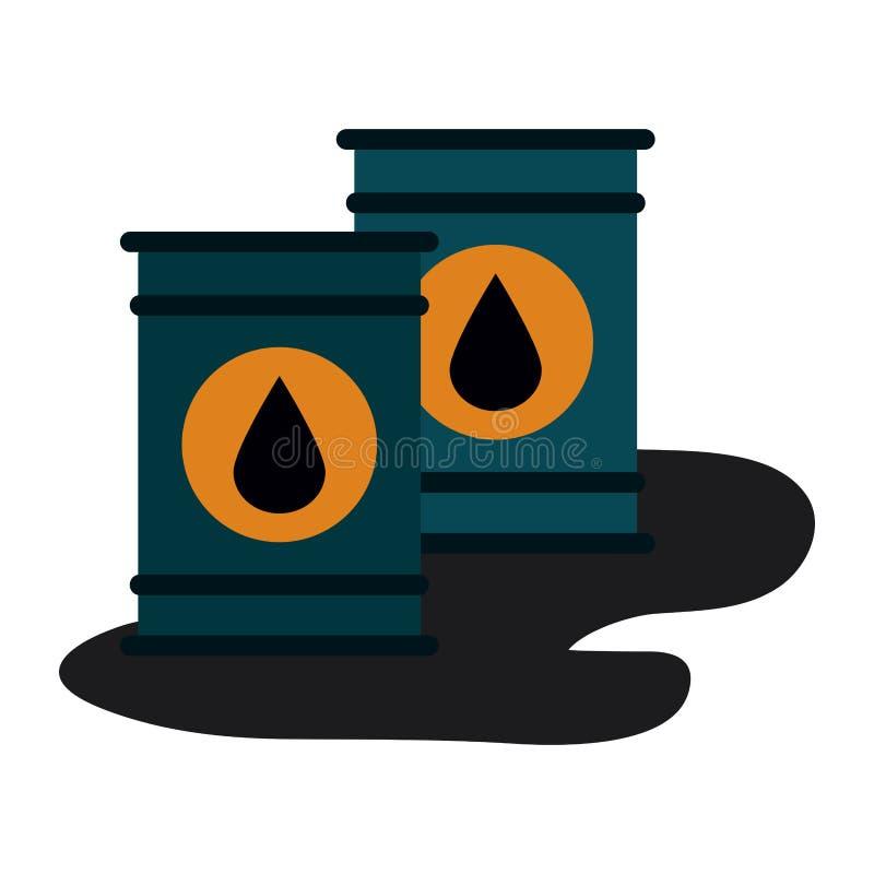 Βαρέλια πετρελαίου που απομονώνονται απεικόνιση αποθεμάτων
