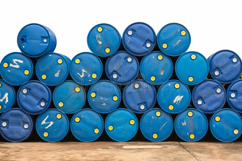 Βαρέλια πετρελαίου στην αντλία αερίου στοκ φωτογραφία με δικαίωμα ελεύθερης χρήσης