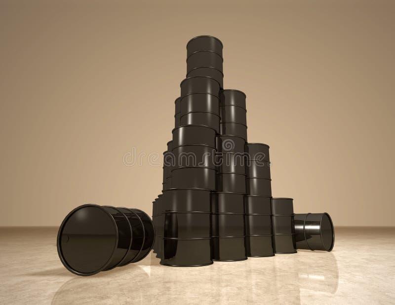βαρέλια πυραμίδων πετρελ ελεύθερη απεικόνιση δικαιώματος