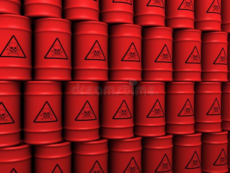 βαρέλια τοξικών αποβλήτων ελεύθερη απεικόνιση δικαιώματος