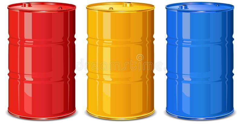 βαρέλια χρώματος απεικόνιση αποθεμάτων