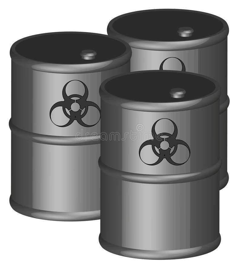 βαρέλια biohazards ελεύθερη απεικόνιση δικαιώματος