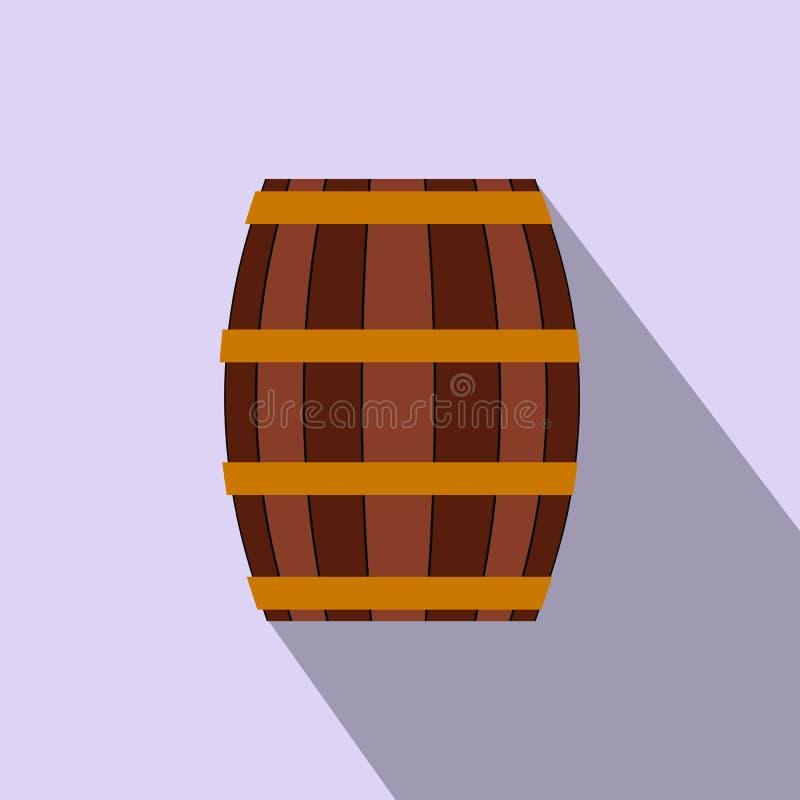 Βαρέλι με το επίπεδο εικονίδιο μελιού διανυσματική απεικόνιση