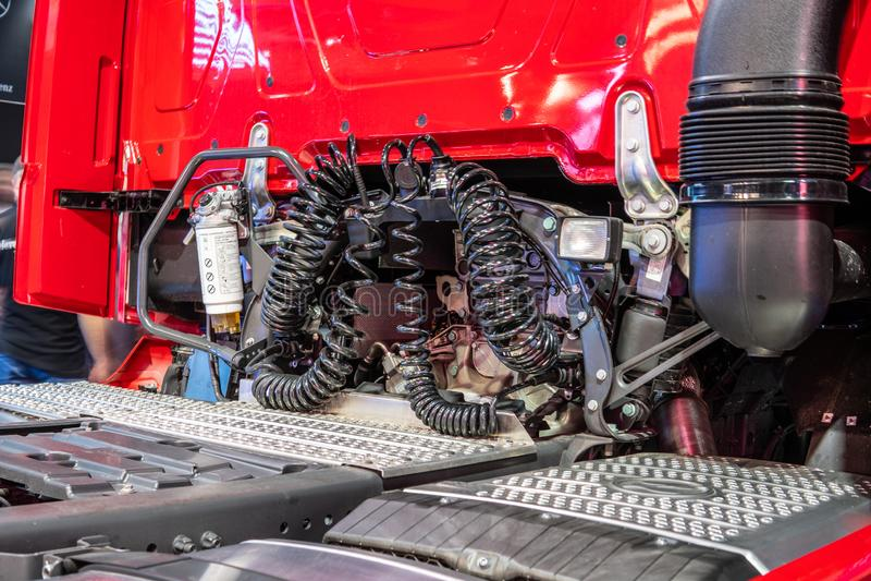 """Βαρέων καθηκόντων φορτηγό της Mercedes Actros, τρίτη γενιά, brandââ νέα ναυαρχίδα '¬â """"¢s από Benz της Mercedes στοκ εικόνες"""