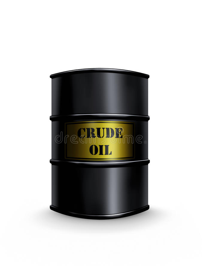 Βαρέλι αργού πετρελαίου στοκ φωτογραφία