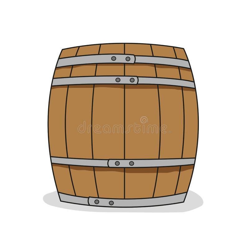 βαρέλι ξύλινο απεικόνιση αποθεμάτων