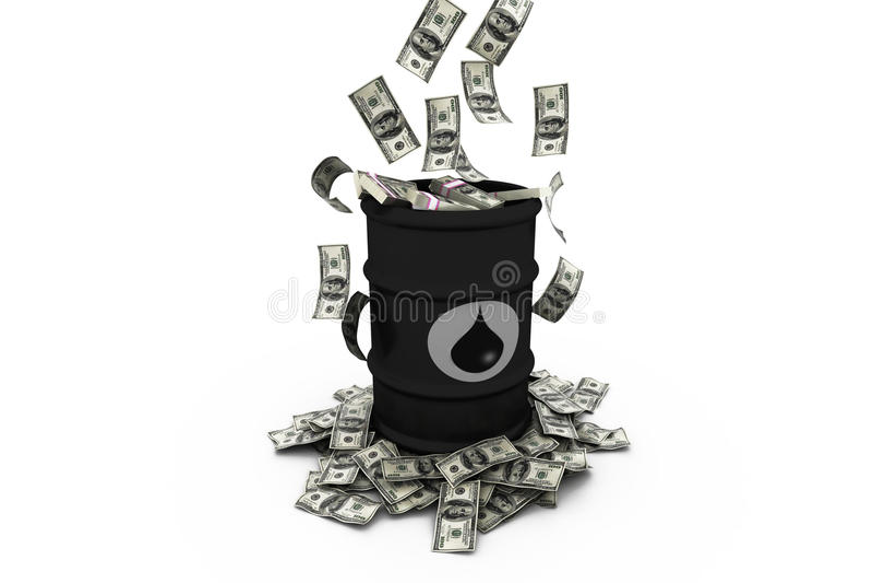 Βαρέλι πετρελαίου με τα δολάρια διανυσματική απεικόνιση