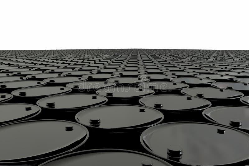 Βαρέλι πετρελαίου στο άσπρο υπόβαθρο χρυσή ιδιοκτησία βασικών πλήκτρων επιχειρησιακής έννοιας που φθάνει στον ουρανό Δολάρια ΗΠΑ απεικόνιση αποθεμάτων