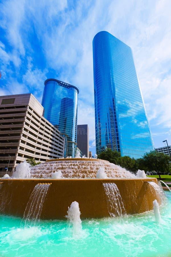 Βαρίδι και πηγή της Vivian Smith στο Χιούστον Τέξας στοκ εικόνα με δικαίωμα ελεύθερης χρήσης