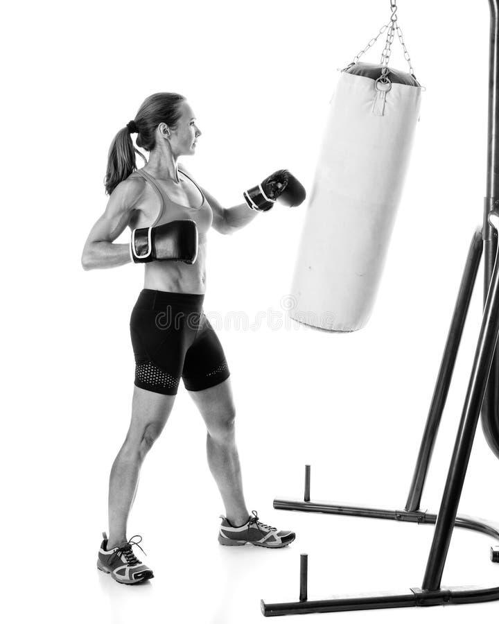 Βαριά άσκηση τσαντών στοκ φωτογραφίες