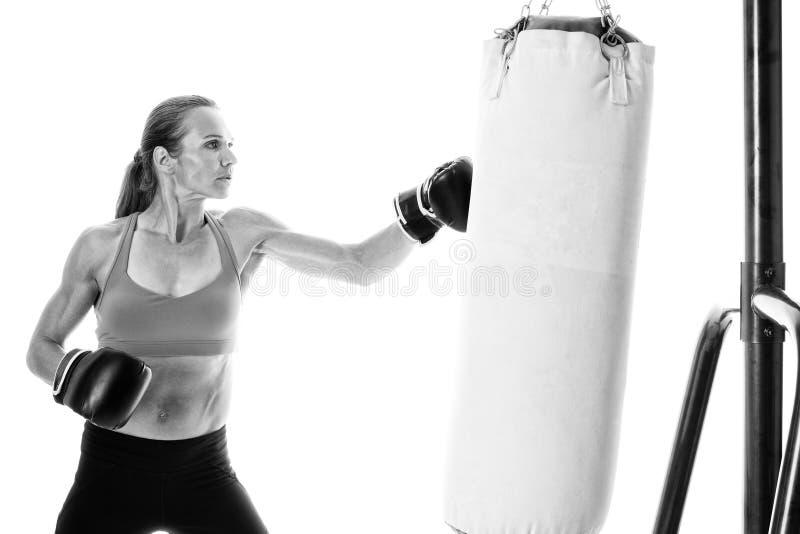 Βαριά άσκηση τσαντών στοκ φωτογραφίες με δικαίωμα ελεύθερης χρήσης