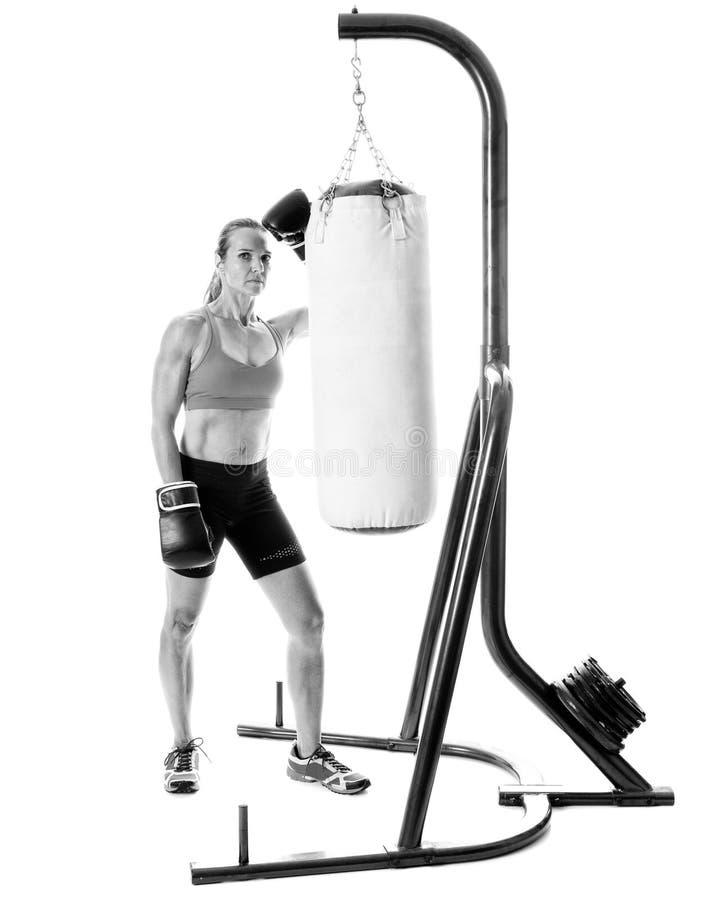 Βαριά άσκηση τσαντών στοκ εικόνα με δικαίωμα ελεύθερης χρήσης