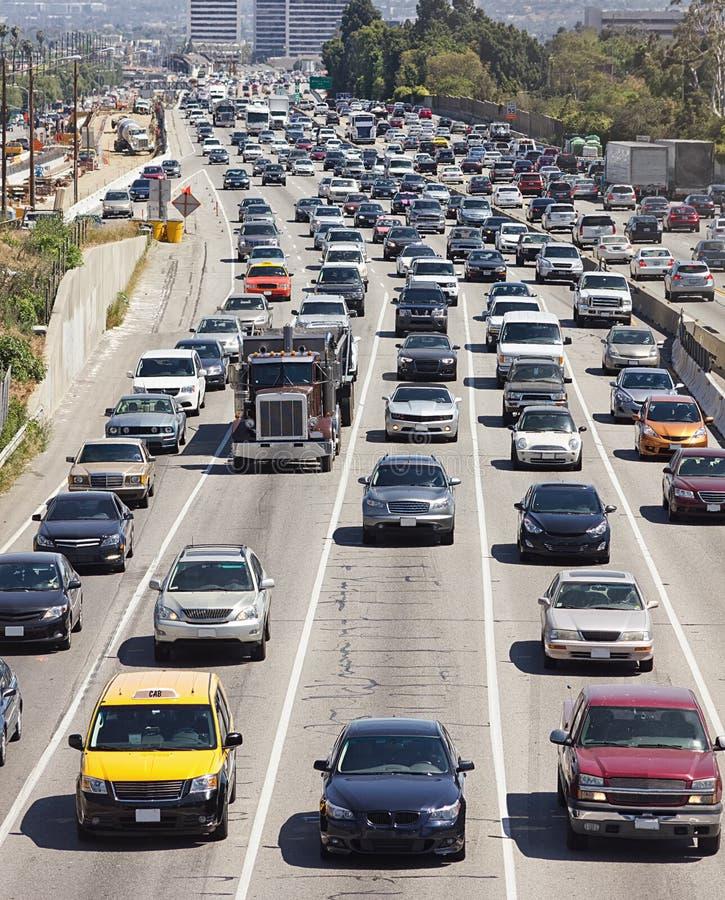 Βαριά κυκλοφορία στο Λος Άντζελες στοκ εικόνες