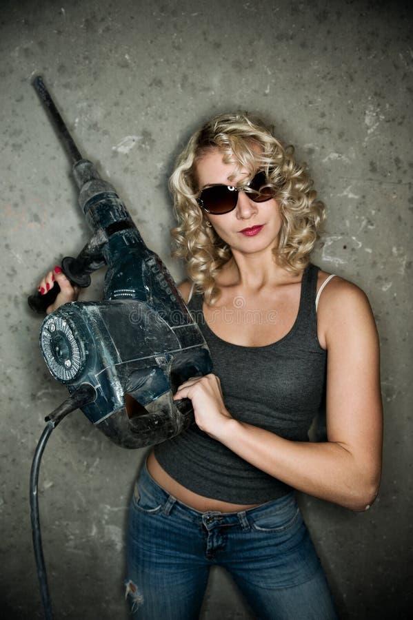 βαριά perforator γυναίκα στοκ φωτογραφία