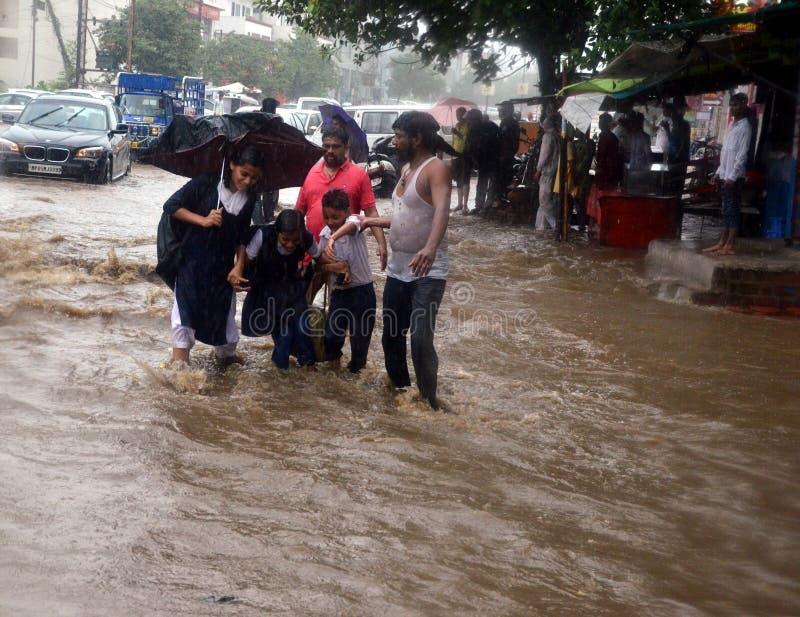 Βαριές βροχοπτώσεις σε Bhopal στοκ εικόνες